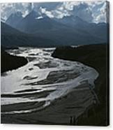 A Scenic View Of The Matanuska River Canvas Print