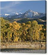 A Scenic View Of The Yellowstone River Canvas Print