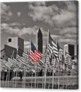 A Sea Of #flags During #marineweek Canvas Print