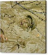 A Seabee Emerges From Muddy Water Canvas Print