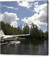 A Seaplane Taking Off From Vancouver Canvas Print
