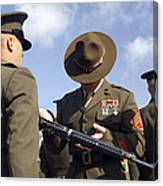 A Senior Drill Instructor Inspects Canvas Print