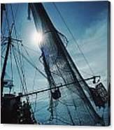 A Shrimping Boat Off The Coast Canvas Print