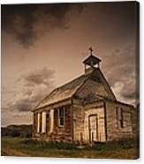 A Simple Wooden Church Canvas Print