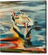 A Single Boat Canvas Print