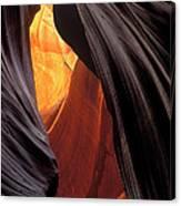 A Slot Canyon View Canvas Print