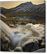 A Small Creek Running Canvas Print