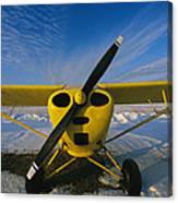 A Small Personal Aircraft Sitting Canvas Print