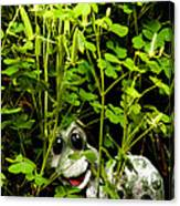 A Smile In A Clover Forest Canvas Print