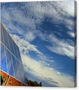 A Solar Panel In The Desert Of South Canvas Print