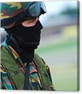 A Soldier Of The Special Forces Group Canvas Print