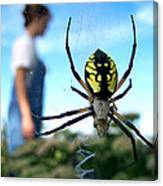 A Spider Beside Her Canvas Print