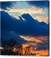 A Spring Sunset Canvas Print