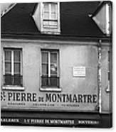 A St Pierre De Montmartre In Paris Canvas Print