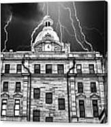 A Storm Above Canvas Print