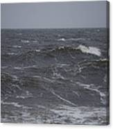 A Storm Lashed Hudsons Bay In Autumn Canvas Print