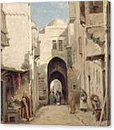 A Street In Jerusalem Canvas Print