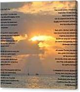 A Sunset A Poem - Victor Hugo Canvas Print