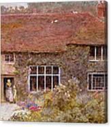 A Surrey Cottage Canvas Print