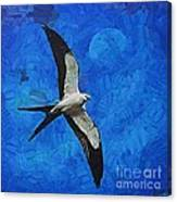 A Swallow And The Moon Canvas Print
