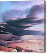A Swift Moving Thunderstorm Moves Canvas Print