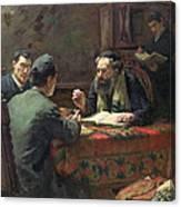 A Theological Debate Canvas Print