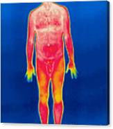 A Thermogram Of A Nude Man Canvas Print