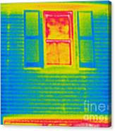 A Thermogram Of A Window Canvas Print