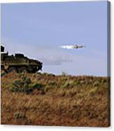 A Tow Missile Is Launched From An Canvas Print