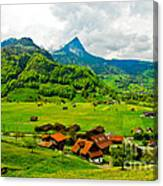 A Town On The Way Canvas Print