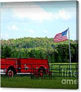 A Tribute To The Fireman Canvas Print