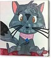 A Trouble Cat Canvas Print