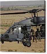 A U.s. Air Force Hh-60 Pavehawk Flies Canvas Print
