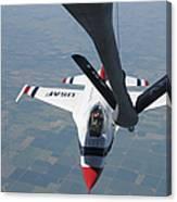 A U.s. Air Force Thunderbird Pilot Canvas Print