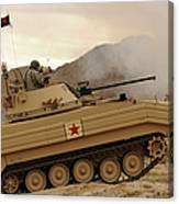 A U.s. Army Soldier Trains On An M113 Canvas Print