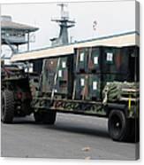 A U.s. Marine Corps Mk48 Logistics Canvas Print