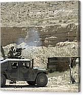 A U.s. Marine Fires A Mark 19-3 40mm Canvas Print