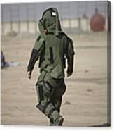 A U.s. Marine Tries Running In A Bomb Canvas Print