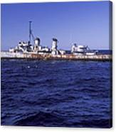 A U.s. Navy Deactivated Ship Sits Ready Canvas Print