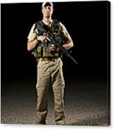 A U.s. Police Officer Contractor Canvas Print