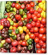 A Variety Of Fresh Tomatoes And Celeries - 5d17901 Canvas Print