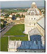 A View From The Bell Tower Of Pisa  Canvas Print