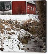 A View In Winter Canvas Print