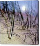 A View Of A Full Moon Rising Canvas Print