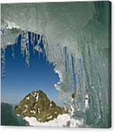 A View Of A Mountain Summit Canvas Print
