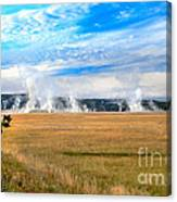 A View Of Geysers  Canvas Print