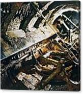 A View Of The Corroded Interior Canvas Print