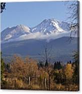 A View Toward Mt Shasta In Autumn Canvas Print