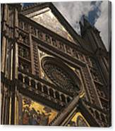 A View Upward At The Duomo Di Orvieto Canvas Print