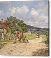 A Village Scene Canvas Print